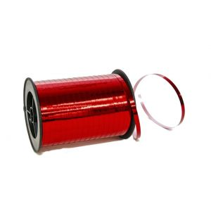 Wstążka 5mm 250yd metaliczna czerwona