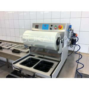 Tray sealing machine GS100B MAP semi-automatic with double frame 227x178mm non-separated