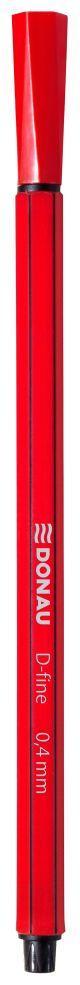Cienkopis DONAU D-Fine, 0,4 mm, czerwony