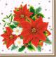 Serwetki 33x33 MAKI GWIAZDKA 0013 04 Poinsettia Bouquet White op. 20 sztuk