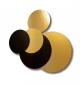 Podkładki pod tort złoto-czarne fi.28cm okrągłe op.100szt