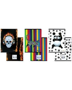 School notebook, GIMBOO Vip mix 2015, A5, ruled, 60gsm, 32 pages, margin, assorted designs